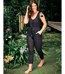 luana button through jumpsuit
