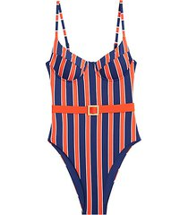 danielle 1-piece striped swimsuit