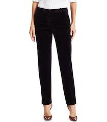theory women's stretch velvet tailored trouser - black - size 4