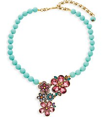 magical garden crystal floral statement necklace