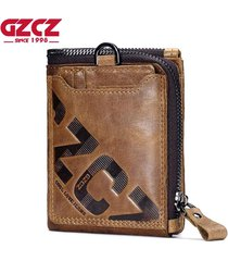 genuine leather men wallet fashion coin purse card holder small wallet men porto