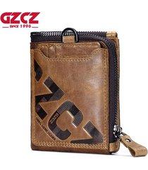 genuine leather men wallet fashion coin purse card holder small wallet men porto
