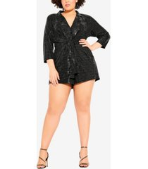 city chic women's trendy plus size glamour playsuit