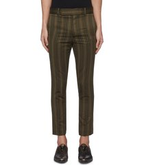 stripe slim fit tailored pants