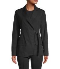 a.l.c. women's ridley wrap jacket - black - size 2