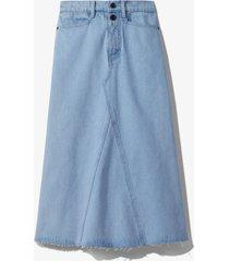 proenza schouler white label bleached denim skirt periwinkle bleach/blue 8