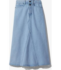 proenza schouler white label bleached denim skirt periwinkle bleach/blue 6