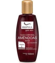 nupill óleo corporal de amendoa rico em vitamina e 100ml