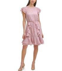 karl lagerfeld paris ruffled textured dress