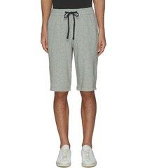 drawstring waist cotton shorts