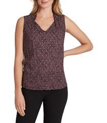 tahari asl women's printed smocked blouse
