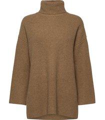 slfkatty ls long knit rollneck w turtleneck coltrui bruin selected femme