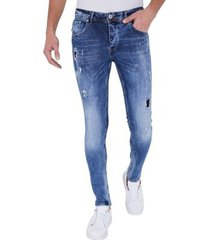 skinny jeans true rise stoere jeans paint drops d