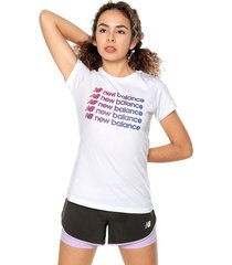 camiseta blanca-morado new balance nb optiks repeat
