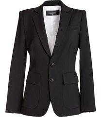 dsquared wool cady sabrina blazer in black