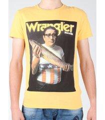 t-shirt korte mouw wrangler t-shirt s/s graphic t w7931efng