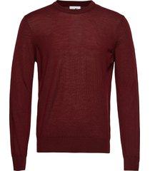 ted 6120 gebreide trui met ronde kraag rood nn07