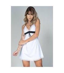 camisola feminina serra e mar modas lisa com laço isis branco