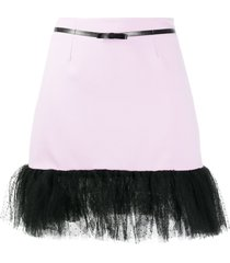 brognano tulle hem mini skirt - purple