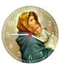 relógio de parede jesus e maria religiosidade