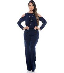 macacão b'bonnie pantalona ombro feminino