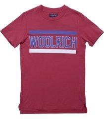 woolrich red cotton jersey t-shirt