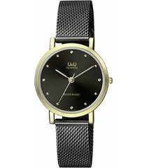 reloj para dama elegante q&q qa21j825y bicolor