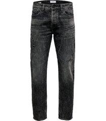 tapered jeans onsavi black washed regular
