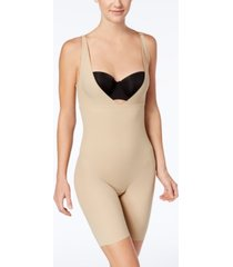 maidenform women's firm tummy-control instant slimmer long leg open bust body shaper 2556