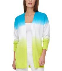 calvin klein cotton dip-dyed long cardigan