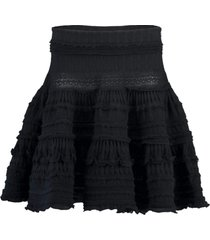 mesh laine knit skirt