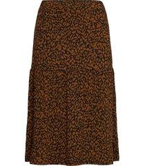 sc-krista knälång kjol brun soyaconcept