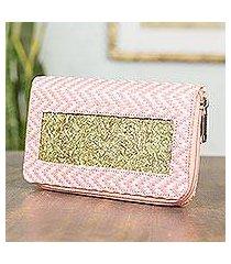 natural fibers wallet, 'mexican pink' (mexico)