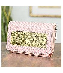 natural fibers wallet, 'mexican pink' (mexico)