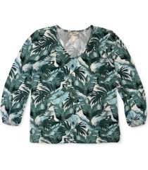 style & co botanical-print top, created for macy's