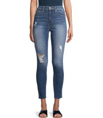 joe's jeans women's high-rise distressed skinny jeans - abbeville - size 27 (4)