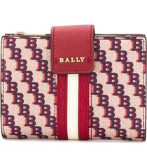 bally monogram print wallet - neutrals