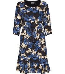 fresprep 2 dress knälång klänning blå fransa
