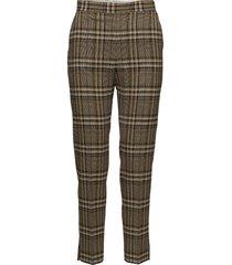 mandalay soft check pantalon met rechte pijpen bruin j. lindeberg