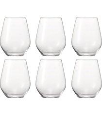 conjunto de copos baixo authentis casual leve 6 pague 4 spiegelau