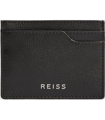 reiss cabot - leather card holder in black, mens