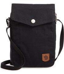 fjallraven greenland pocket crossbody bag - black