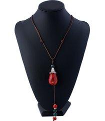 pendente etnico in ceramica con perline nappa lungo collane maglione vintage per le donne