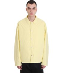 jil sander casual jacket in yellow polyamide