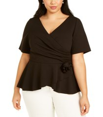 adrianna papell plus size rosette top