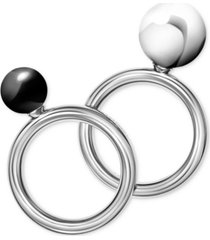 calvin klein bubbly stainless steel onyx ring