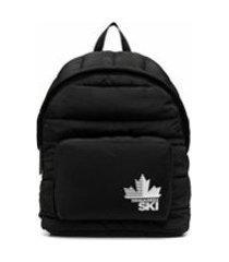 dsquared2 mochila com patch de logo - preto