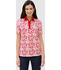 poloshirt paola wit::rood