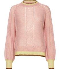 solid gracinia sweater stickad tröja rosa becksöndergaard