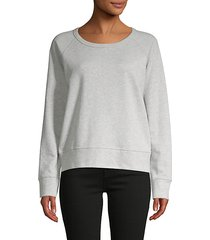 heathered cotton-blend sweatshirt
